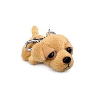 Peepers Yellow Lab Dog with Clip 3 by Russ Berrie  Toys & Games
