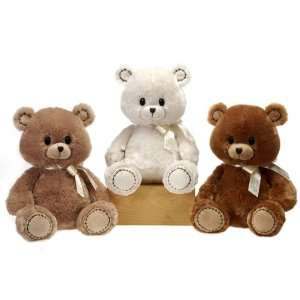 12 3 Assorted Color Sitting Adorable Teddy Bear Case Pack