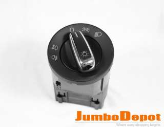 VW PASSAT B5 GOLF MK4 HEAD LIGHT SWITCH CHROME CONTROL
