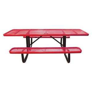 8 ft. Standard Expanded Metal ADA Commercial Grade Picnic Table