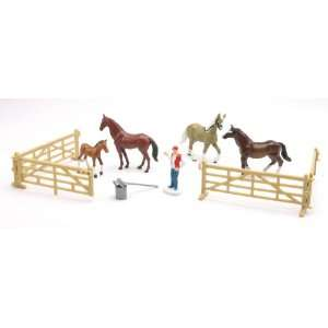 Country Life Farm Animal Horse Playset Toys & Games