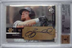 03 SP AUTHENTIC GOLD AUTO JEFF BAGWELL #1/10 BGS 9