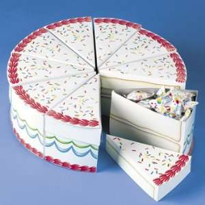 Birthday Cake Slices Treat Boxes   Party Favor & Goody Bags & Paper