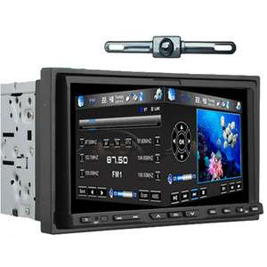 GPS NAV PIP Double Din 7Car DVD Player Ipod Bluetooth TV Radio+Camera