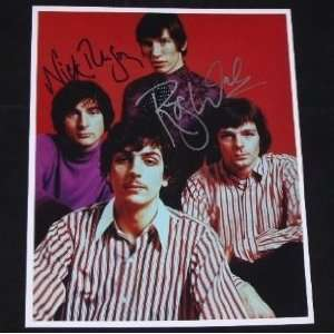Roger Waters Nick Mason Pink Floyd Hand Signed Authentic Autographed