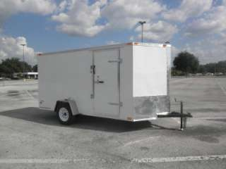 NEW 6x12 6 x 12 V Nose Enclosed Cargo Trailer w/Ramp