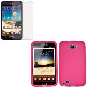 iFase Brand Samsung Galaxy Note i717 Combo Solid Hot Pink