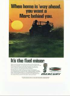 1969 Mercury Outboard Boat Motors Color Ad
